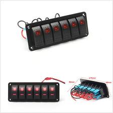 DC12V/24V 6 Gang Car Off-Road Rocker Switch Panel Circuit Breaker LED Waterproof