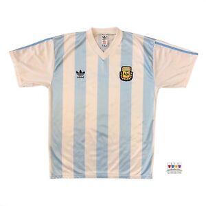 Argentina 1990/91 International Home Soccer Jersey Large Adidas