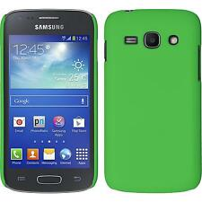Hardcase Samsung Galaxy Ace 3 rubberized green Cover + protective foils