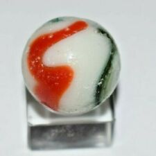 Peltier Green and Red Christmas Tree, Toy Marble Ribbon Size  .843 !