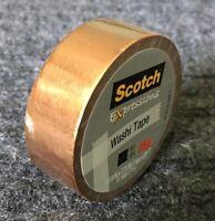 "Scotch Expressions Washi Crafting Tape Copper Metallic .59"" X 7.65 Yds"