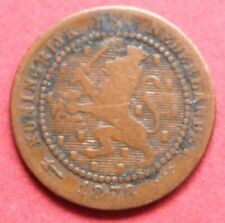 NETHERLANDS SCARCE ANTIQUE 1878 ONE CENT COIN   IN  A VERY COLLECTABLE GRADE