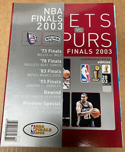 2003-04 NBA Finals New Jersey Nets San Antonio Spurs Tim Duncan Jason Kidd