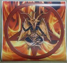 "Baphomet  Fire Pentagram Poster Size 24"" x 24""  Pentagram satanic Halloween art"