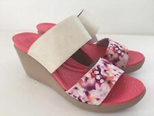 Crocs Women's Leigh II 2 Strap Graphic Wedge Shoe Sandal Size 11 M NIB
