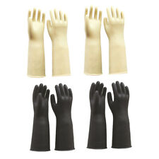 4 Pairs Heavy Duty Household Industrial Gardening Rubber Latex Gloves, 60cm