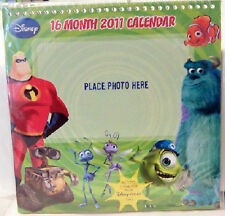 Disney Pixar Films 16 Month 2011 Photo Calendar New