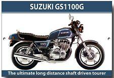 Suzuki GS1100G Motorrad Metall sign.1980's Japanische D. O. H. C. super Fahrrad