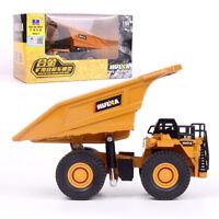 Huiner Simulation Mining Dump Truck Alloy Cars Model Children Sliding 1/60 Toys