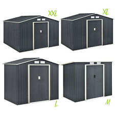 Gerätehaus Geräteschuppen Schuppen Metall Pultdach Satteldach Gartenhaus Juskys®