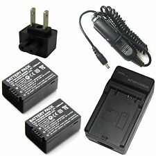 Charger + 2x 7.2v 1300mAh Li-ion Battery Pack for LEICA BP-DC9-U V-LUX2 V-LUX3