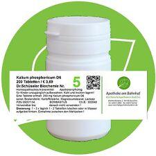 Schüßler - Salz 5 Kalium phos.  D6 200 Tabletten PZN 08001134
