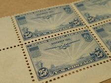 US C20 25c TransPacific Plate Block of 10