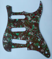 Electric Guitar SSS Pickguard 3 Ply Green Shell Pickguard for Fender Strat Parts