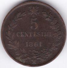 1861 M Italia 5 CENTESIMI RAME *** Da collezione *** ***