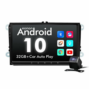 """Camera+9"""" Android 10 Car Auto Play GPS Touch Screen 1080p For Golf MK5 MK6 Jetta"""