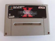 Super Fire prowrestling X Super Famicom NTSC Nintendo SNES lucha pro wrestling