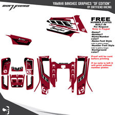 Yamaha Banshee 350 Graphics DFR DF edition Yamaha Red Sides Fenders