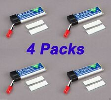 4 pcs Blade 120SR 500mAh 1-Cell 3.7V 25C LiPo Battery 120 SR EFLB5001S25