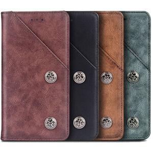 For Oppo/Vivo - Flip Retro Genuine Leather Wallet Case Stand TPU Silicone Cover