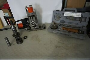 Ridgid 918 Hydraulic Roll Groover Kit for Model 300. Used. Dirty. Works.