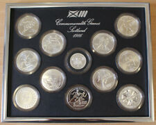 1986 XIII Commonwealth Games - Silver Uncirulated Collection (12 Coins)