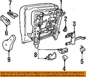 Lincoln FORD OEM 1998 Continental Seat Track-Track Assembly Right F7OZ5461710AA