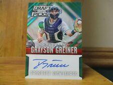2014 Panini Prizm Draft Grayson Grenier Auto, Green Prizm, #/35 Detroit Tigers