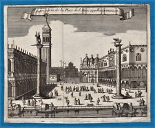 vintage original 17th century San Marco Venice Venezia Kupferstich etching