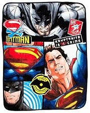 Batman V Superman choque Manta Polar Súper Suave Grande 120 X 150 Cm Dc Comics