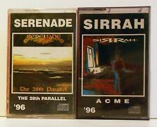 Serenade - The 28th Parallel - Sirrah - Acme 2 cassette lot