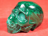 A Larger! Very Life Like Malachite STALAGMITE SKULL Sculpture! The Congo 329gr