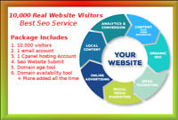 10,000 Real Visitors and  SEO Submit Website Web Advertising