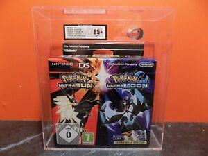 Pokemon Ultra Sun Ultra Moon Dual Pack Graded PAL UKG VGA WATA 85+ Nintendo 3DS