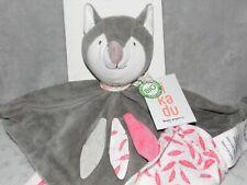 Kikadu véritablement Organique Fox Couette Jouet Doux Couverture Doudou