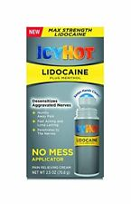 Icy Hot Lidocaine Plus Menthol No-Mess Pain Relieving Cream Applicator 2.5 Ounce