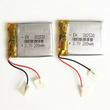2 pcs 3.7V 200mAh Lipo Polymer Battery For mp3 mp4 headphone PAD GPS MID 302530