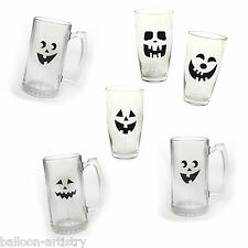 16 Haunted Halloween Spooky Ghost Face Beverage Glass Cup Stickers Clings