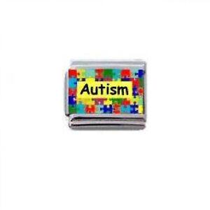 'Autism Puzzle'  9 mm Classic  Italian Charm