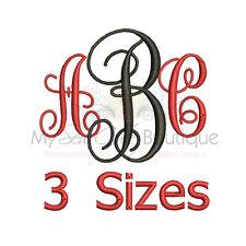 Vine Interlocking Alphabet Embroidery Fonts Machine Embroidery Design - IMPFCD01