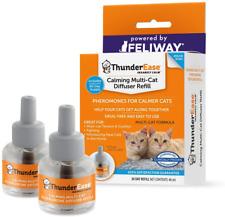 ThunderEase Multicat Calming Pheromone Diffuser Refill Feline Cat 60 Day Supply