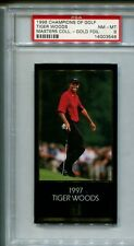 1998 TIGER WOODS Grand Slam Ventures Masters Collection GOLD FOIL card PSA 8