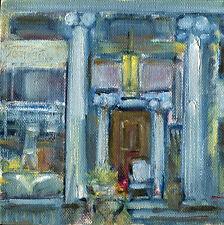 Seymour June House Art & Antiques  6x6 in.Original oil on canvas Hall Groat Sr.