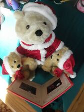 The Night Before Christmas Storytelling Bear with 2 cubs used
