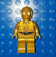 LEGO Star Wars C3PO Minifigure Colorful Wires Pattern Dark Pearl Gold C-3PO