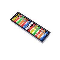 Tragbare bunte Kunststoffperlen Abacus Arithmetic Soroban Berechnungswerkzeug WJ