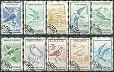 Timbres Oiseaux Roumanie 3921/30 o lot 16346