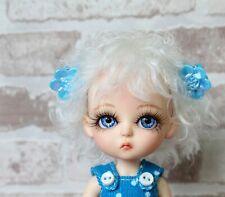 "Handmade PukiFee wig ""Snow White"" Lati Yellow wig BJD OOAK wig 5 Inch"
