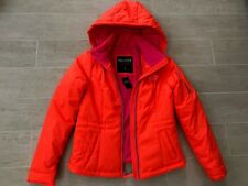 New Hollister by Abercrombie & Fitch Womens Puffer Hooded Jacket Coat- Orange- S