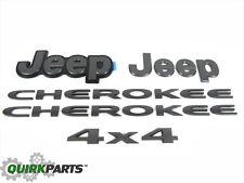 14-18 Jeep Cherokee COMPLETE NAMEPLATE EMBLEM BADGE KIT SET OF 5 OEM NEW MOPAR